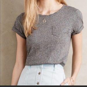 Anthropologie akemi + kin gray Knit top shirt m